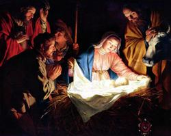 Adoration of the Shepherds Religious Wooden Jigsaw Puzzle