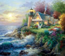 On Guard Lighthouses Jigsaw Puzzle