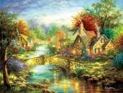 Stonehenge Bridge Cottage / Cabin Jigsaw Puzzle