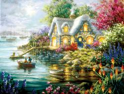 Cottage Cove Cottage / Cabin Jigsaw Puzzle
