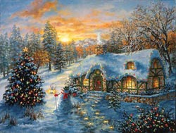 Christmas Cottage - Scratch and Dent Christmas Jigsaw Puzzle