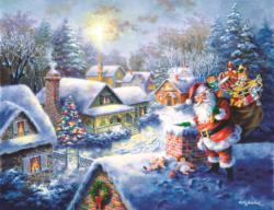 Bringing Joy and Happiness Snow Jigsaw Puzzle