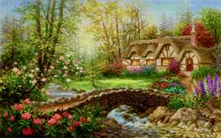Country Home Lakes / Rivers / Streams Jigsaw Puzzle