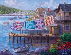 Dockside Quilts Lakes / Rivers / Streams Large Piece