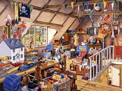 Grandma's Attic - Scratch and Dent Everyday Objects Jigsaw Puzzle
