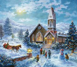 Parents Pray Snow Jigsaw Puzzle