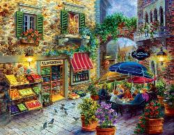 Market Square Italy Jigsaw Puzzle