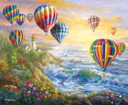 Summer Glow Seascape / Coastal Living Jigsaw Puzzle