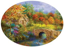 Beautiful Autumn - Scratch and Dent Bridges Jigsaw Puzzle