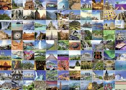 99 Beautiful Places on Earth Collage Jigsaw Puzzle