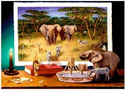 Nighttime Visitors Africa Jigsaw Puzzle