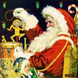 Santa Claus Preparing Christmas Wooden Jigsaw Puzzle