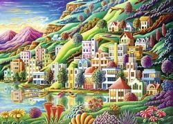 Dream City Mountains Jigsaw Puzzle