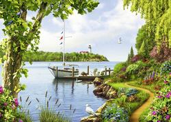 Boat Days Lighthouses Jigsaw Puzzle