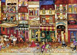 Streets of France Cartoons Jigsaw Puzzle