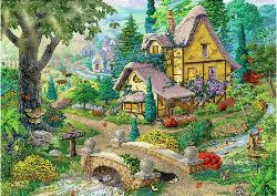 Path to West Arbor Cottage/Cabin Jigsaw Puzzle