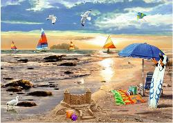 Ready for Summer Seascape / Coastal Living Jigsaw Puzzle