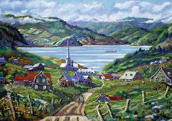 Charlevoix, Québec (Canadian Collection Canadienne) Churches Jigsaw Puzzle