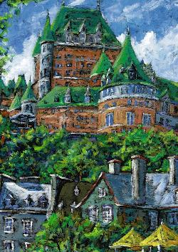 Chateau Frontenac, Québec (Canadian Collection Canadienne) Landscape Jigsaw Puzzle