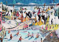 Shinny in Trinity (Canadian Collection Canadienne) Winter Jigsaw Puzzle