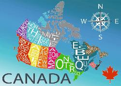 Colourful Canada (Canadian Collection Canadienne) Maps Jigsaw Puzzle