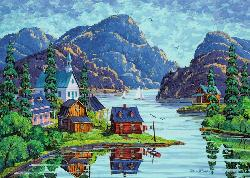The Saguenay Fjord Cottage / Cabin Jigsaw Puzzle