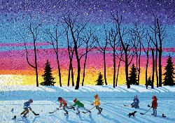 Sundown and Stars (Canadian Collection Canadienne) Winter Jigsaw Puzzle