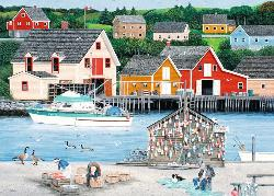 Fisherman's Cove (Canadian Collection Canadienne) - Scratch and Dent Folk Art Jigsaw Puzzle