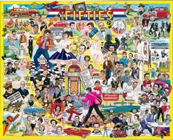 The Fifties Nostalgic / Retro Jigsaw Puzzle