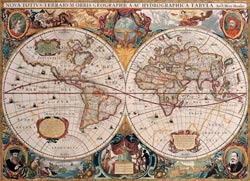 Antique World Map Nostalgic / Retro Jigsaw Puzzle