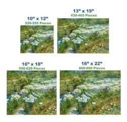 The Water Garden Impressionism Wooden Jigsaw Puzzle