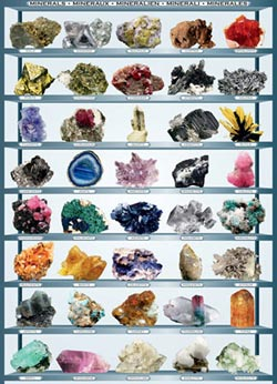 Minerals Pattern / Assortment Jigsaw Puzzle