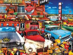Old Cars and Used Guitars (Rusty Shimmer) Nostalgic / Retro Jigsaw Puzzle