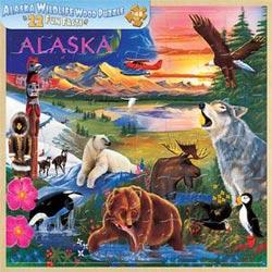 Wood Fun Facts - Alaska Wildlife Lakes / Rivers / Streams Children's Puzzles