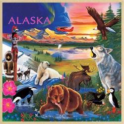 Alaska Wildlife Animals Tray Puzzle