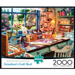 Grandma's Craft Shed - Scratch and Dent Cats Jigsaw Puzzle