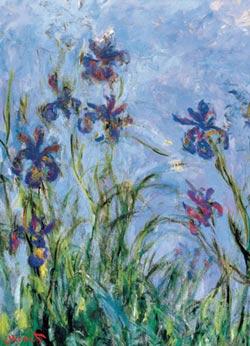 Irises - Claude Monet Van Gogh Irises Jigsaw Puzzle