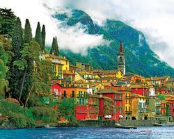 Mediterranean Waterfront Seascape / Coastal Living Jigsaw Puzzle