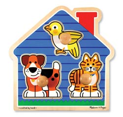 House Pets Jumbo Knob Other Animals Peg Puzzle