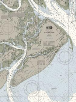 Hilton Head Nautical Chart Maps / Geography Jigsaw Puzzle