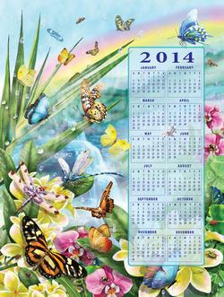 Butterfly Season - 2014 Calendar Butterflies and Insects New Product - Old Stock