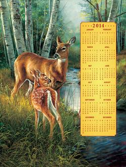 Birch Creek Family - 2014 Calendar Wildlife New Product - Old Stock