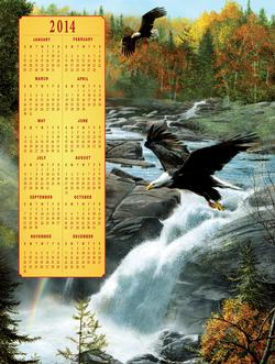 Waterfall Flight - 2014 Calendar Waterfalls Jigsaw Puzzle