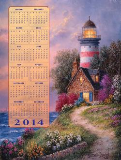 Beacon - 2014 Calendar Lighthouses New Product - Old Stock