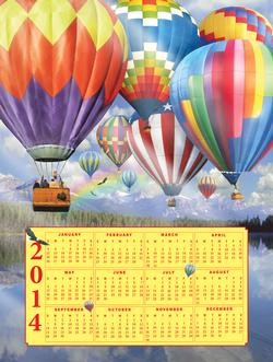 Balloon Fest - 2014 Calendar Calendars New Product - Old Stock