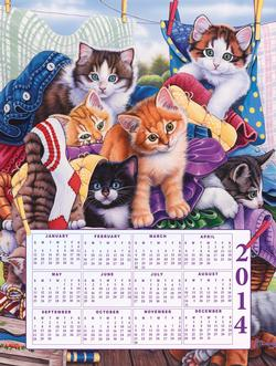 Loads of Kittens - 2014 Calendar Cats Jigsaw Puzzle