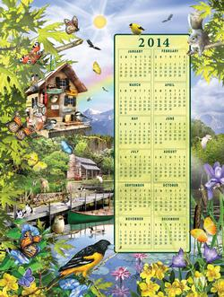 Summer - 2014 Calendar Flowers New Product - Old Stock