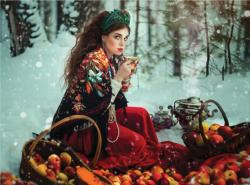 Forest Fruits (Margarita Kareva Fairy Tales) Snow Jigsaw Puzzle