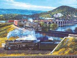 Rockville Bridge Trains Jigsaw Puzzle