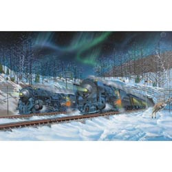 Fire and Ice Trains Jigsaw Puzzle